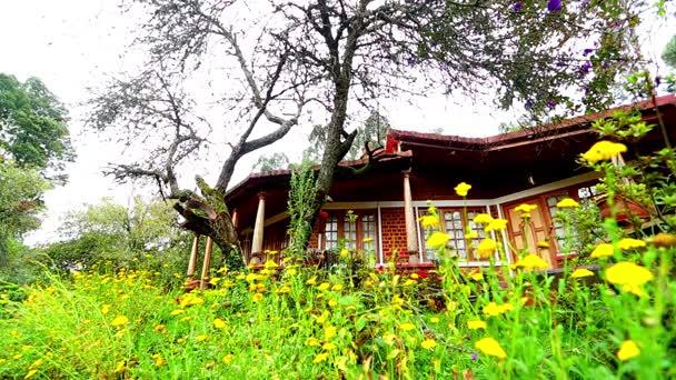 Home exterieur weergave van de buitenkant van een luxe