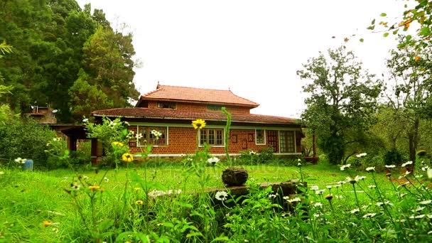 Home Exterieur, Blick auf das Äußere eines Luxus-Hauses mit Gänseblümchen