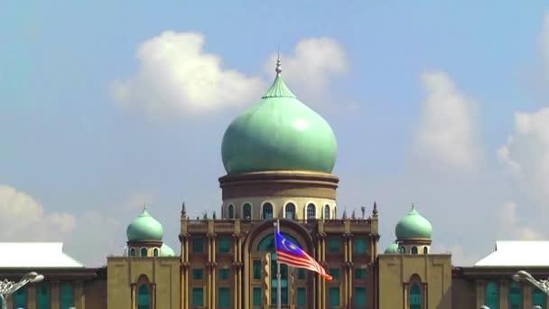 Zoom Out Putra Mosque Putrajaya Malaysia Stock Video C Avpk 183050056