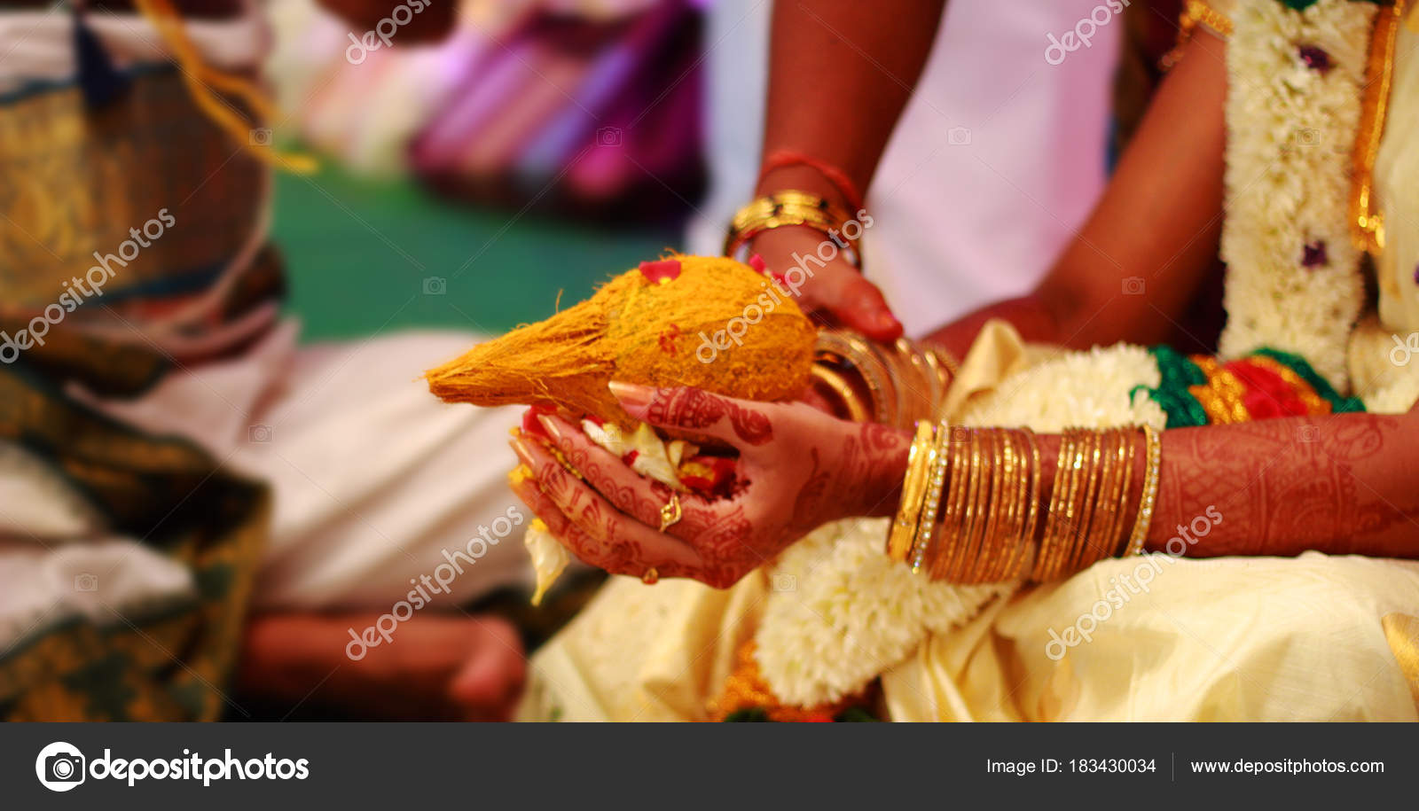 Details Of Traditional Indian Wedding Ceremony Decorated Hindu Wedding Accessories