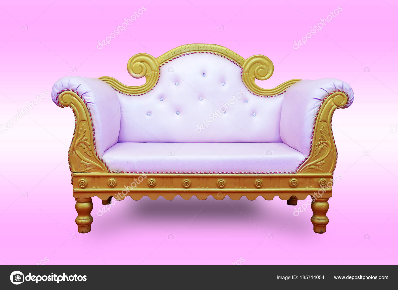 Luxury Sofa Wedding Stage On Pink Background Sofa Set Chairs