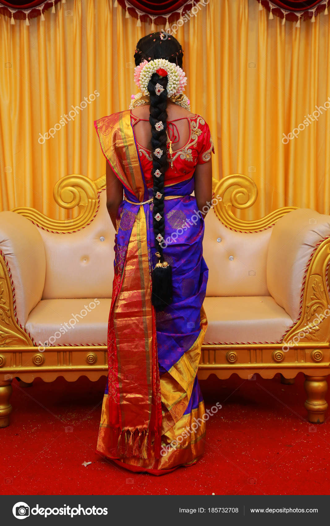 Indian Wedding Hairstyles Indian Bridal Hairstyles Stock Photo