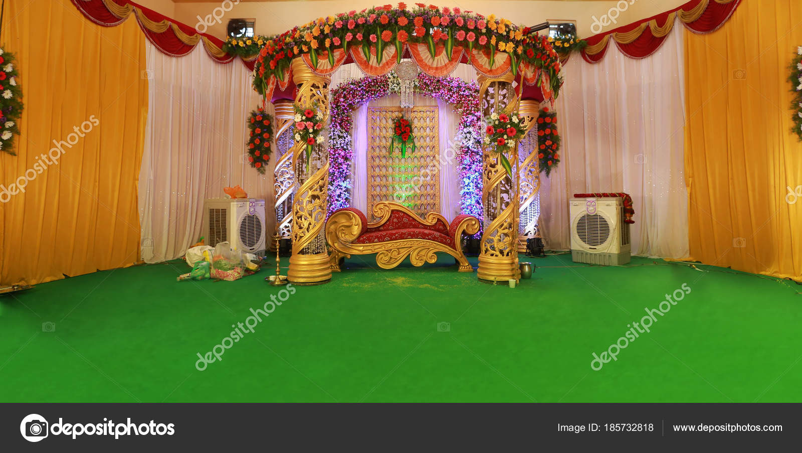 Images: wedding stage backdrop design | Wedding Stage Decoration with  flowers — Stock Photo © avpk #185732818