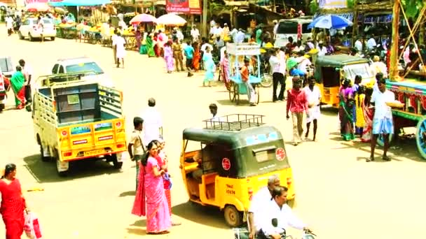 MADURAI, INDIA - APRIL 20th, 2015: Crowd Of With Festival Car India