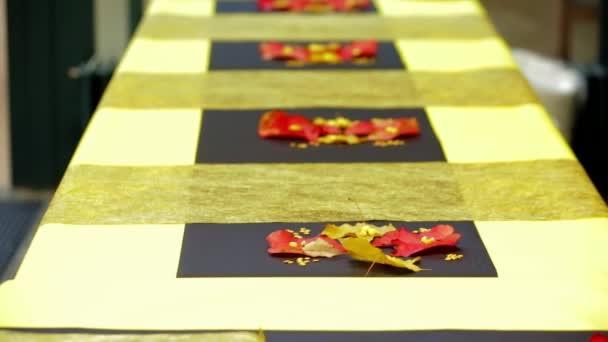 Cena di banchetti. Elegante tavolo da sposa