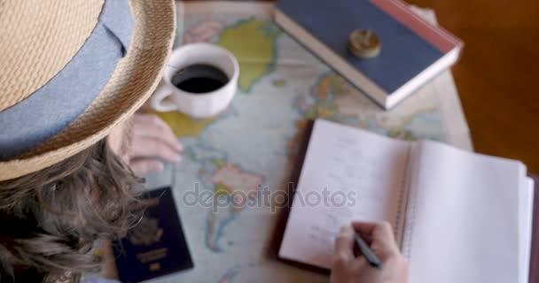 Režii člověka plánování životní cestu a zápis v deníku
