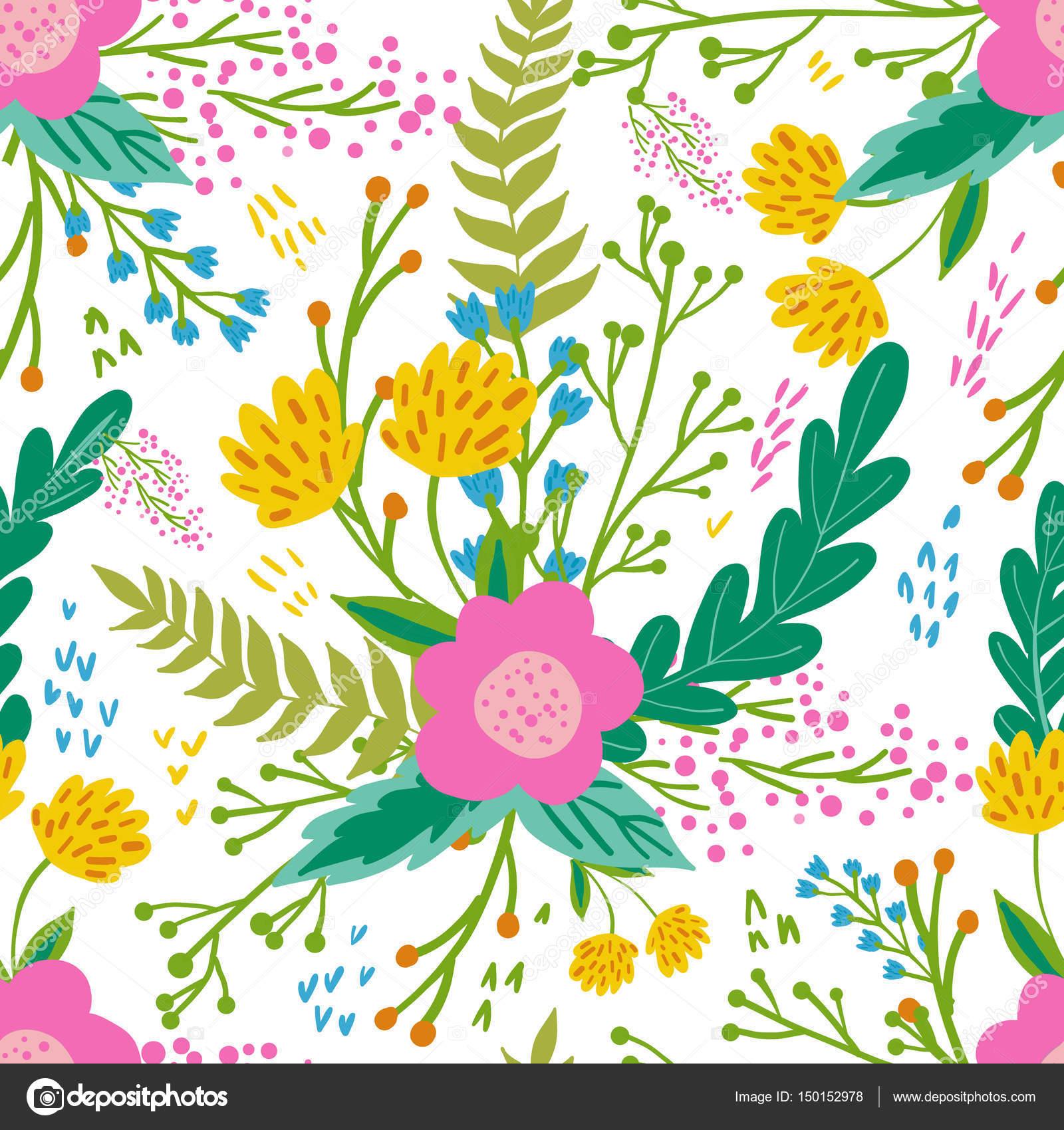 穏やかな色で美しい花柄シームレス パターン。明るいイラスト カード