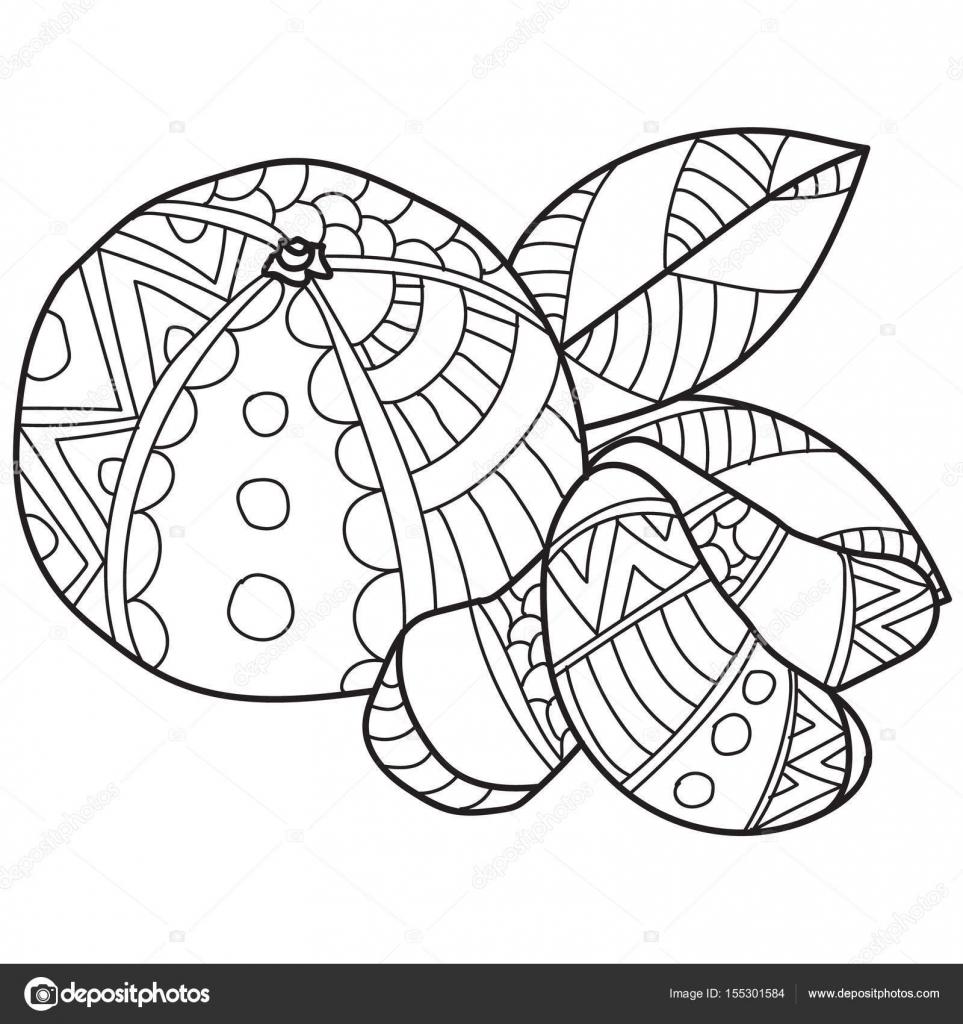 Páginas para colorear para adultos. Dibujo de vector hecho mano de ...