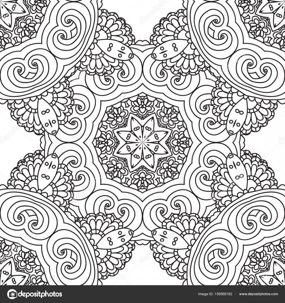 Kleurplaten Voor Volwassenen Tegels.Kleurplaten Voor Volwassenen Decoratieve Hand Getrokken Doodle
