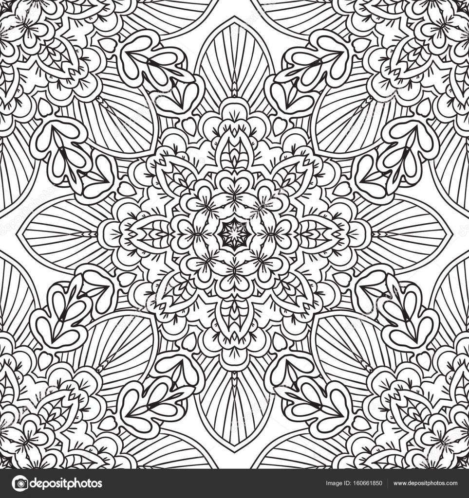 Páginas para colorear para adultos. Mano decorativa doodle dibuja ...