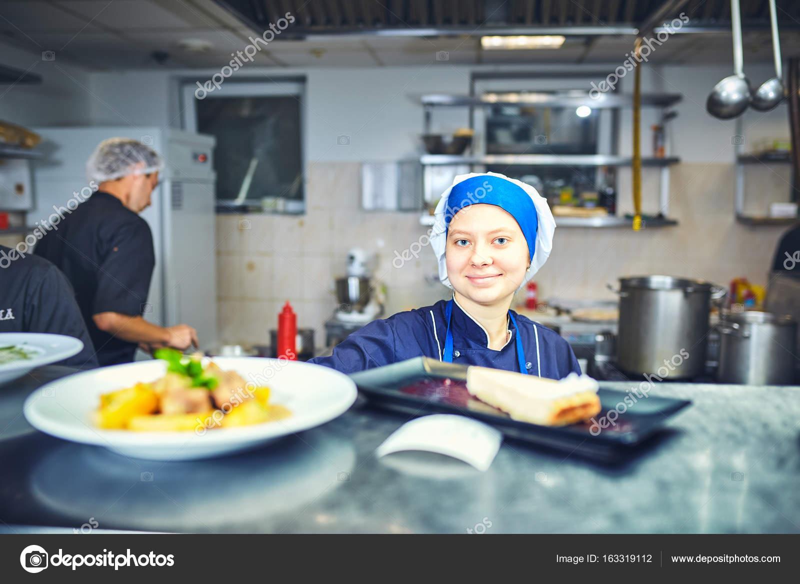 cook chef at restaurant kitchen . — Stock Photo © 6okean.gmail.com ...