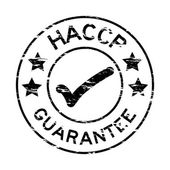 Fotografie Grunge black HACCP guarantee rubber stamp