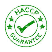 Fotografie Grunge green HACCP guarantee rubber stamp