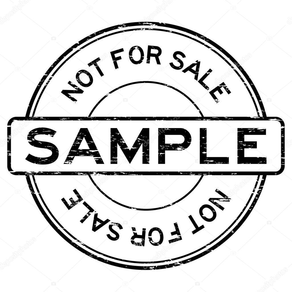 Sample blue grunge round vintage rubber stamp stock illustration.