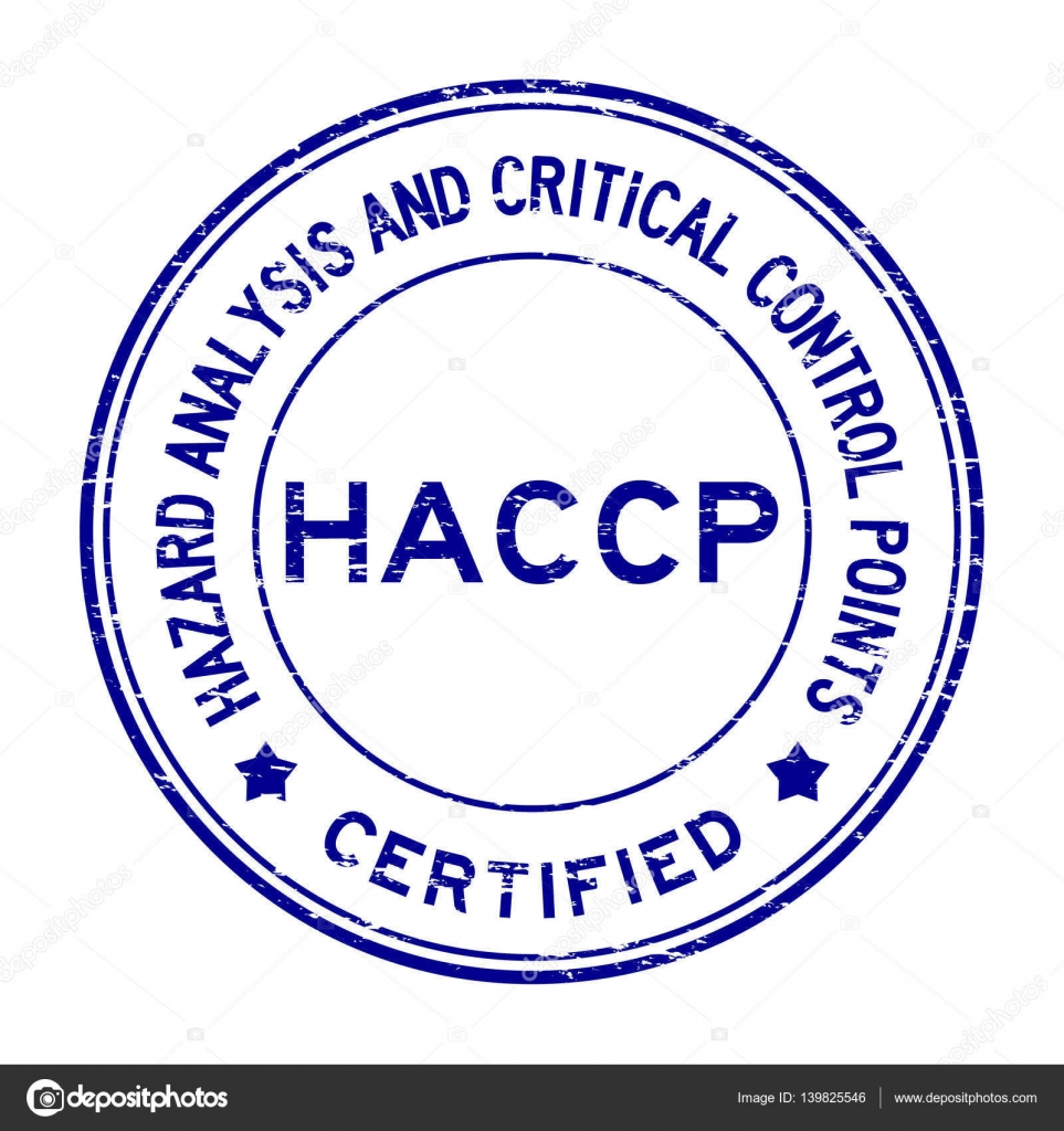 Grunge blue HACCP (Hazard Analysis and Critical Control ...