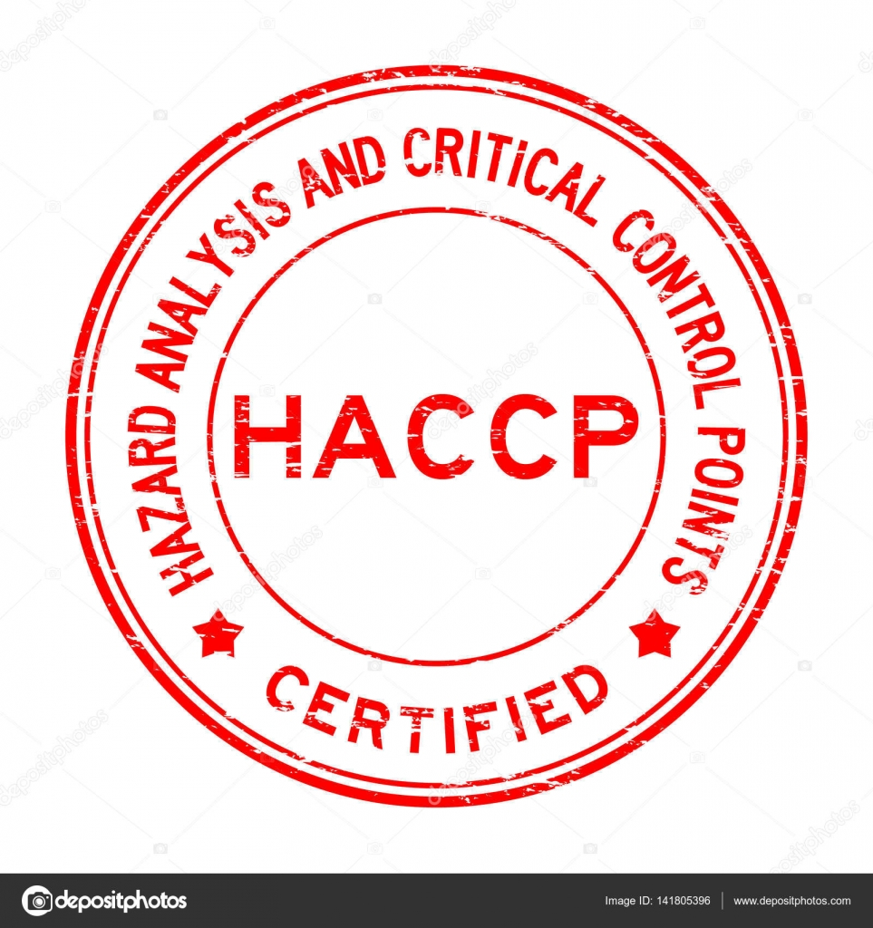 Grunge red HACCP (Hazard Analysis and Critical Control
