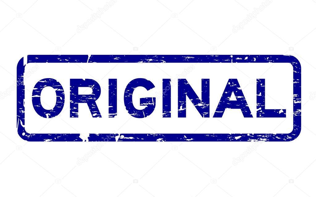 Sellos Originales Del Sello Caucho Cuadrado Grunge Azul