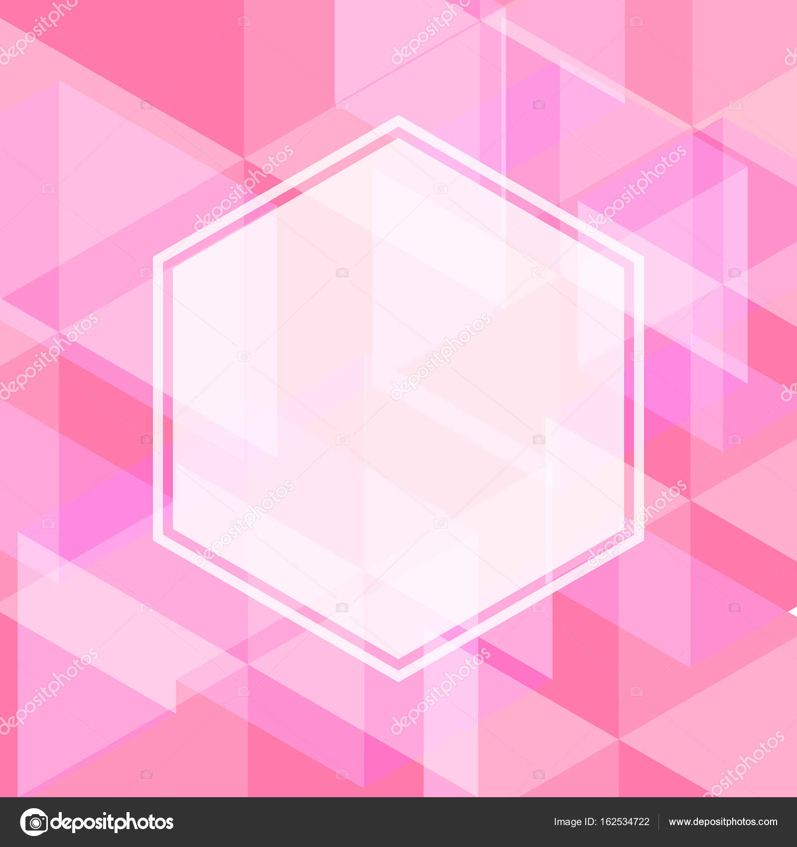abstract pink color of geometric shape with blank space of white