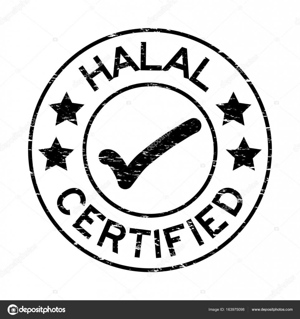 Grunge black halal certified with mark icon round rubber seal grunge black halal certified with mark icon round rubber seal stamp on white background stock buycottarizona