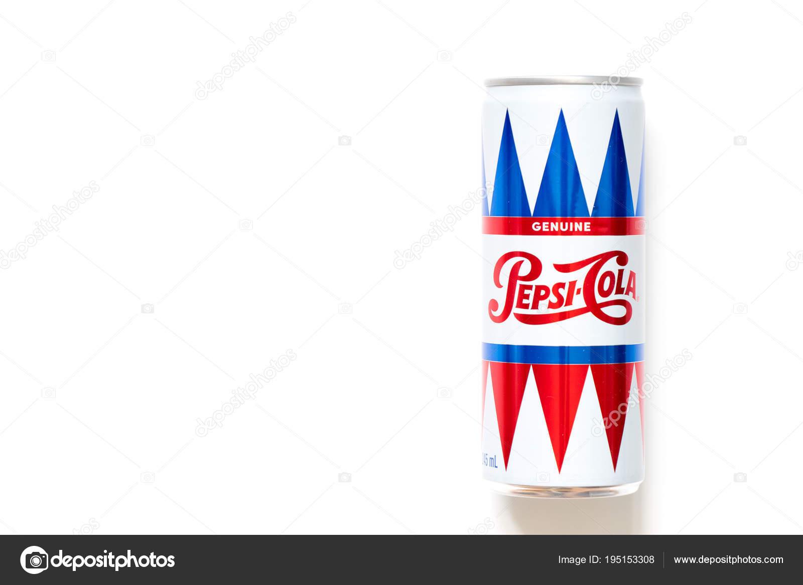 Bangkok, Thailand, March 16, 2018 : Pepsi cola aluminium can size