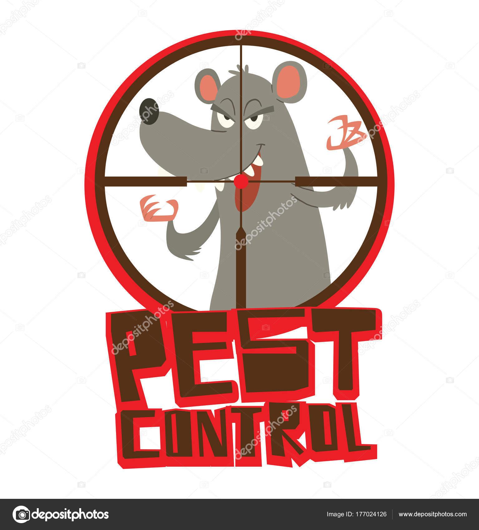 Runde rot-schwarzen Rahmen, lustige graue Ratte erschreckend jemand ...