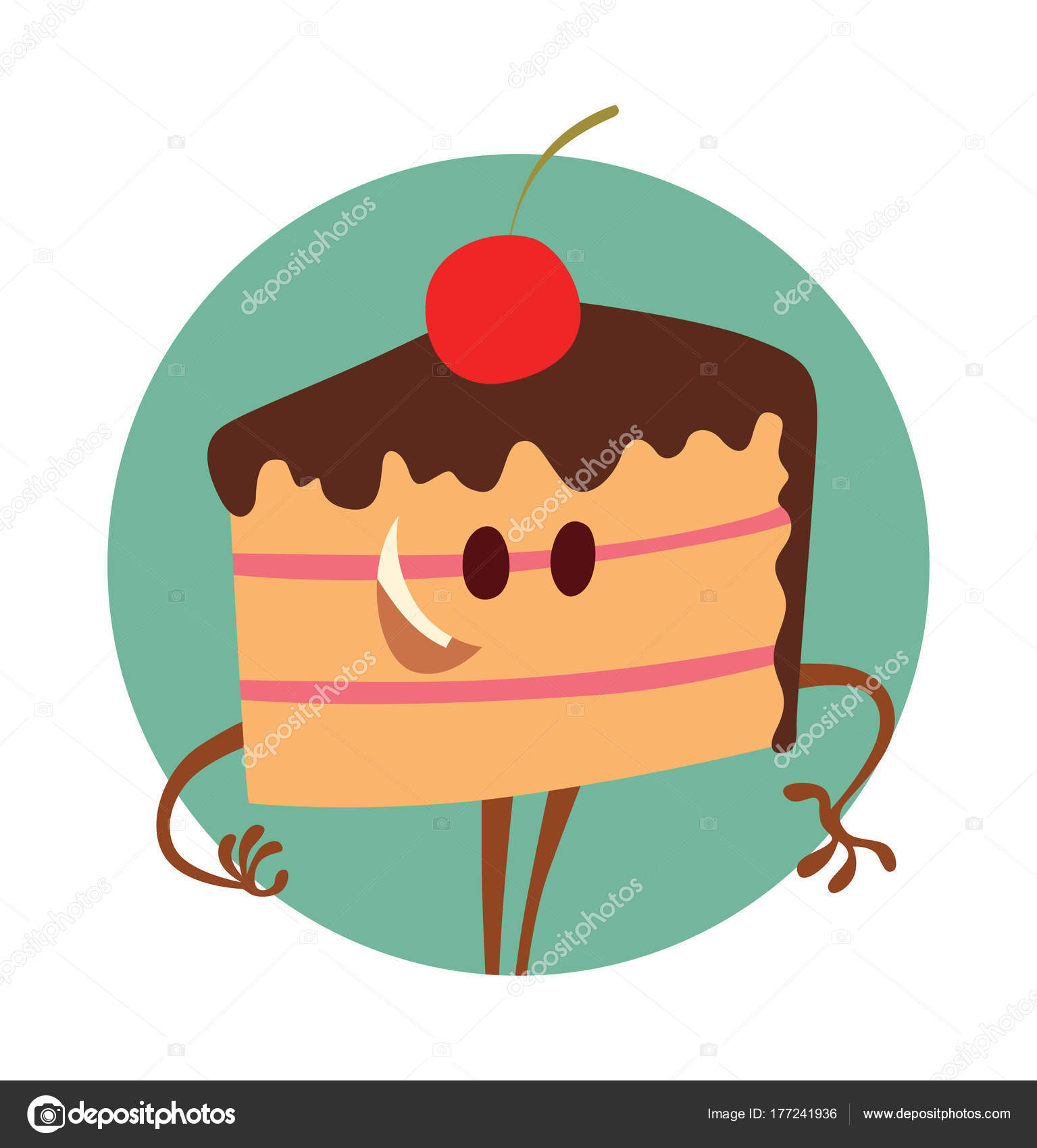 Runde Rahmen, lustige Stück Kuchen — Stockvektor © tannilion.gmail ...