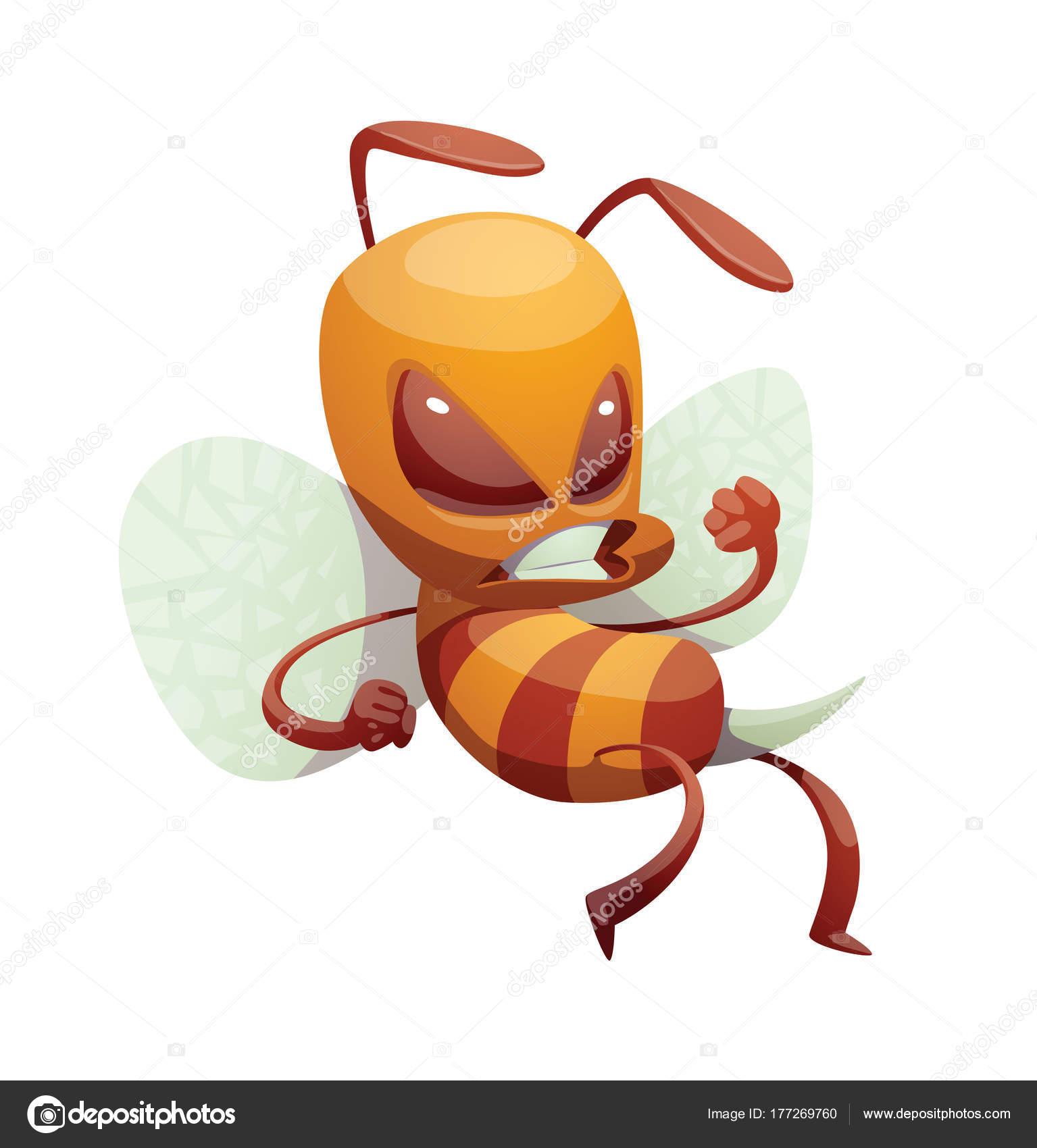 Lustige wütend männliche Biene — Stockvektor © tannilion.gmail.com ...