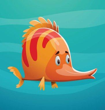 Cute orange fish