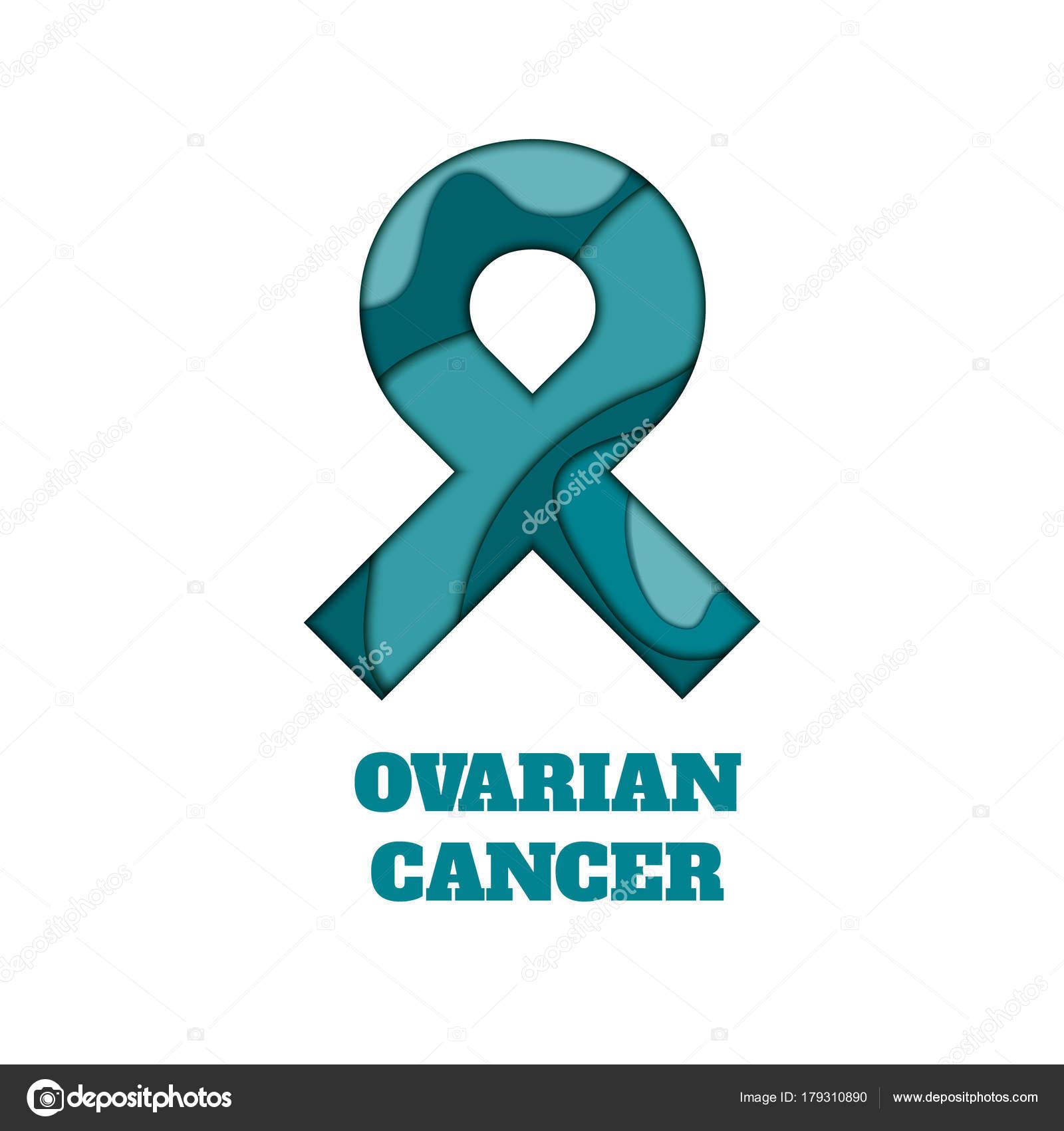 Ovarian Cancer Awareness Papercut Ribbon Stock Vector Naumas