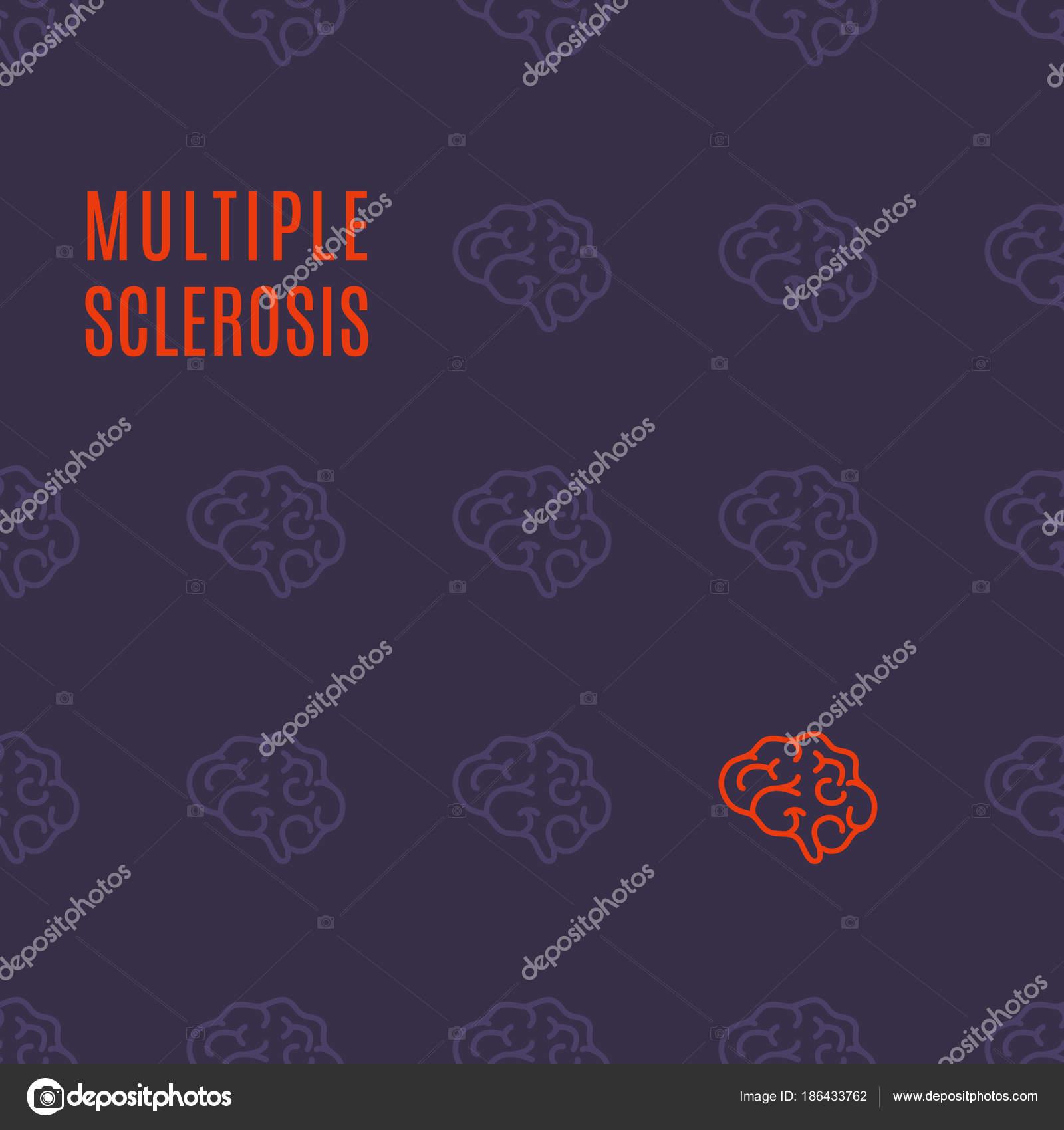 Рассеянный склероз модель плакат — Векторное изображение © Naumas ...