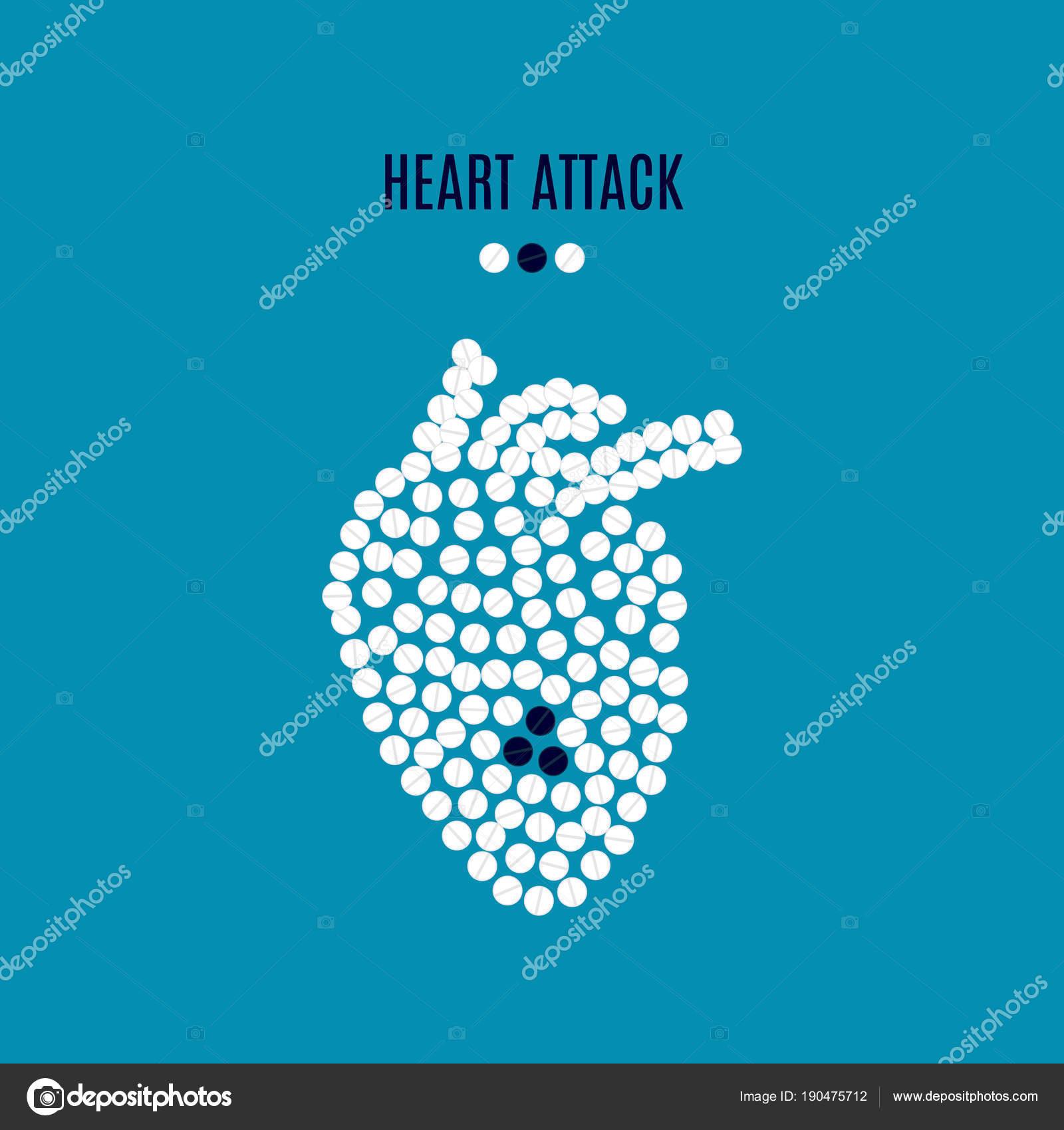 Cartel de sensibilización de ataque al corazón — Archivo Imágenes ...