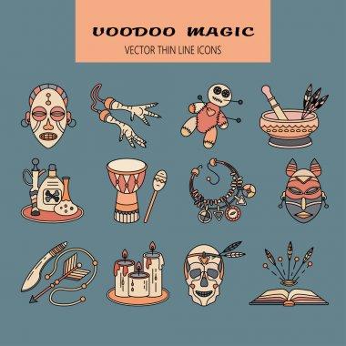 Voodoo African and American magic vector logo.