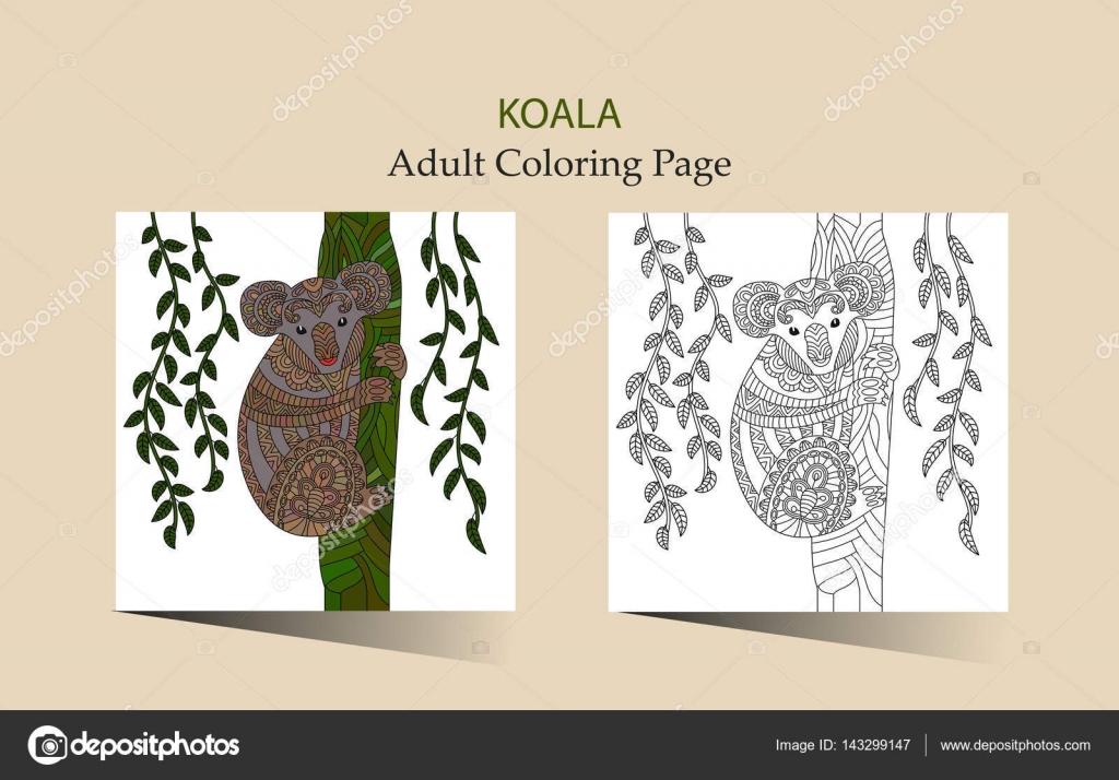Hand Getekende Vector Zentangle Kleurplaat Voor Volwassenen Met
