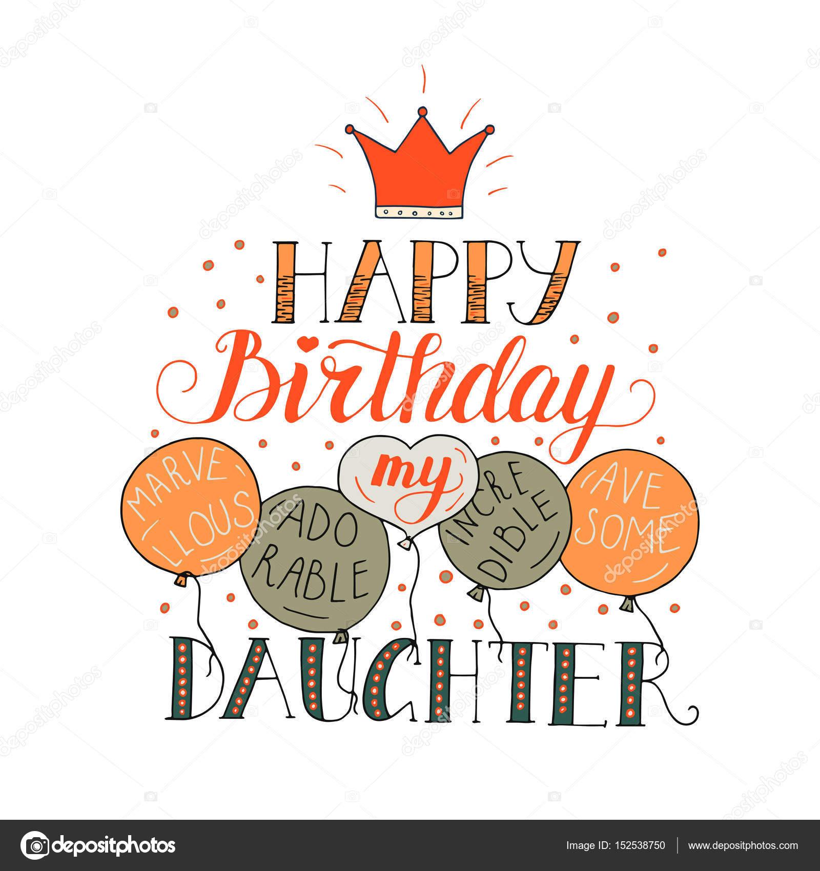 verjaardagskaart dochter Verjaardagskaart voor dochter — Stockvector © trihubova.gmail. verjaardagskaart dochter