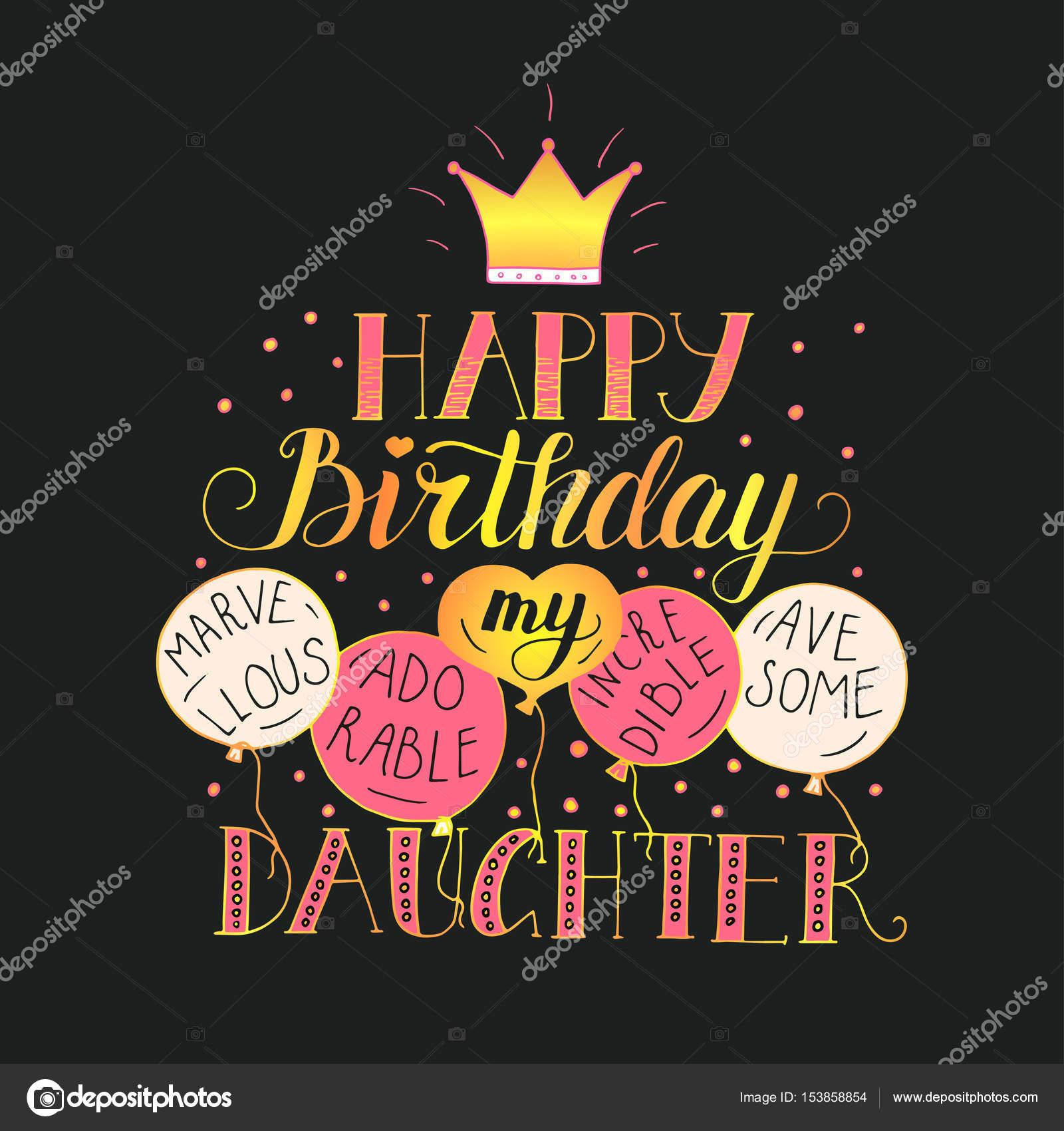 přání k narozeninám pro dceru Přání k narozeninám pro dceru — Stock Vektor © trihubova.gmail. přání k narozeninám pro dceru