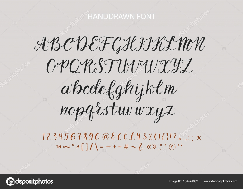 Handwritten Script Font Hand Drawn Brush Style Modern Calligraphy Cursive Typeface Lettering And Custom Typography Alphabet For Designs Logo