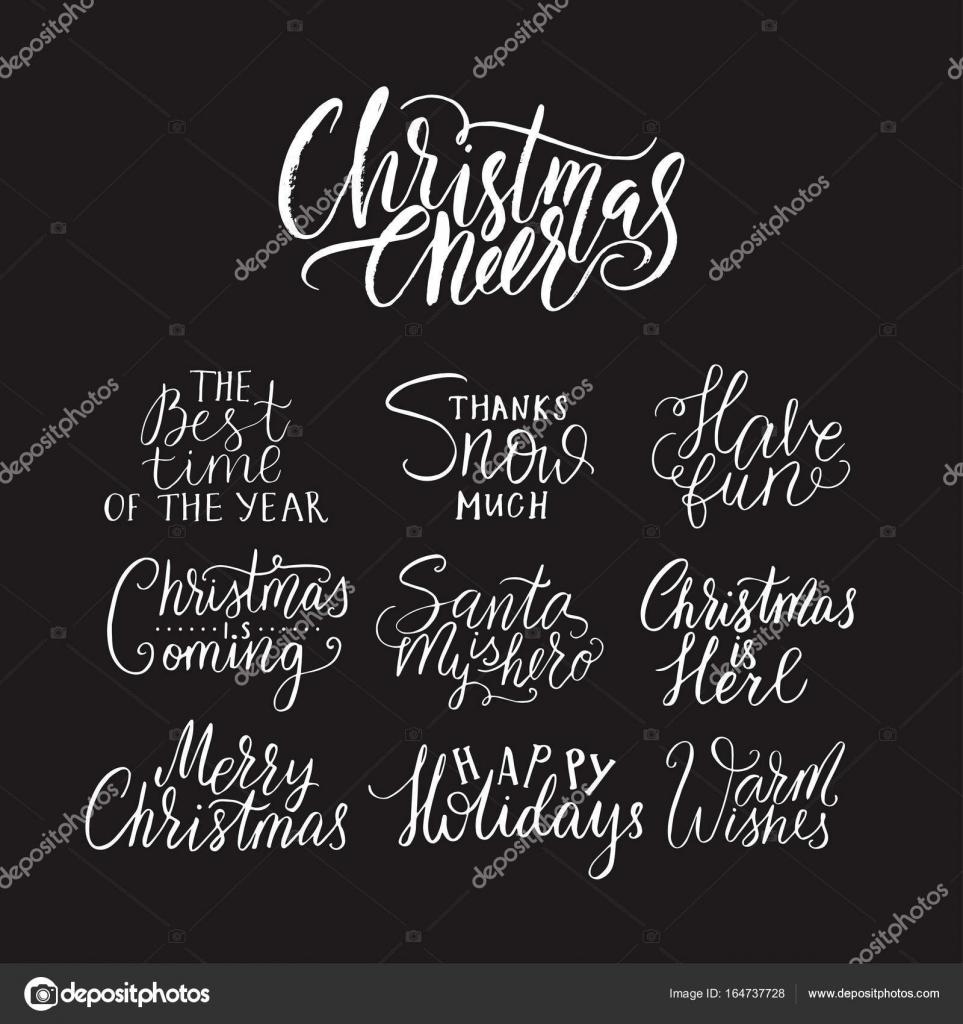 Frohe Weihnachten Text Karte.Frohe Weihnachten Schriftzug Typografie Handschrift Text