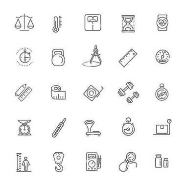 Web icon set - scales, weighing, weight, balance clip art vector