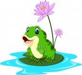 Roztomilý kreslený žabák ilustrace