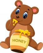Ilustrace roztomilé dítě medvěd Cartoon