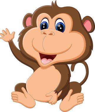 illustration of Cartoon monkey