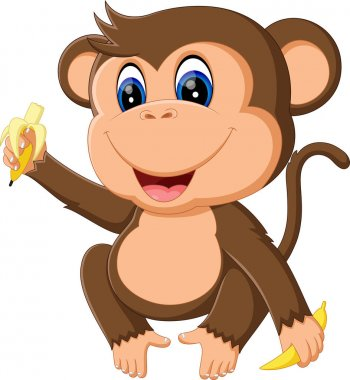 illustration of Cartoon monkey