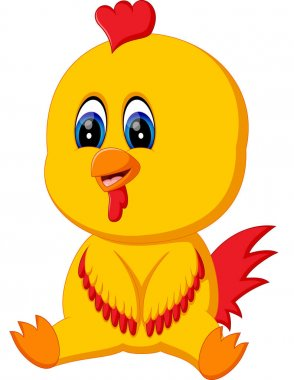 illustration of Cute baby rooster cartoon
