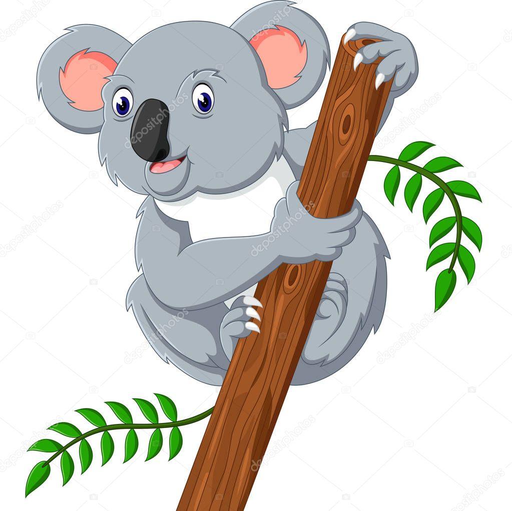 Illustration of cute koala cartoon — Stock Vector ...