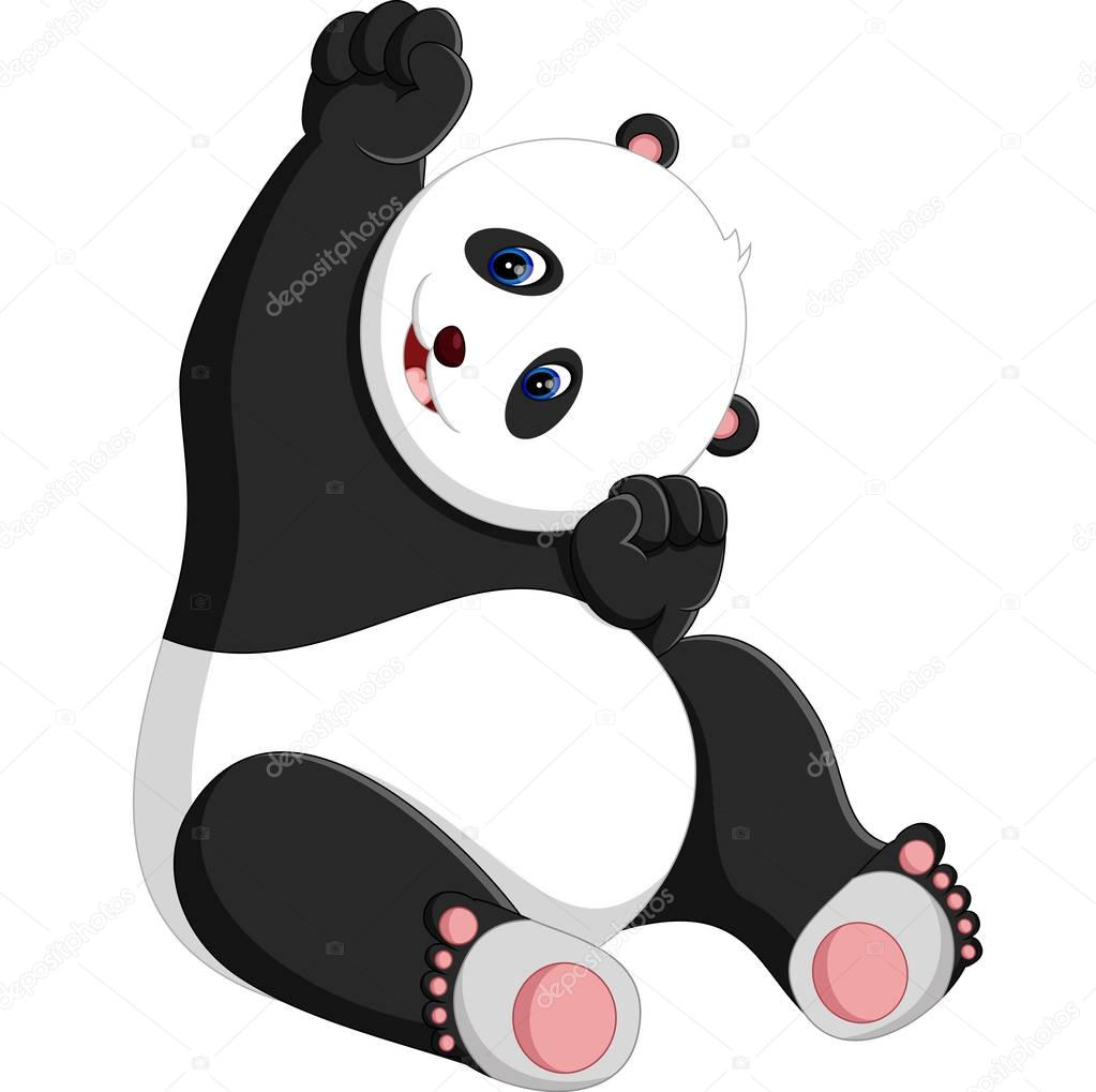 How To Draw A Cute Cartoon Baby Panda Illustration Of Cute Baby