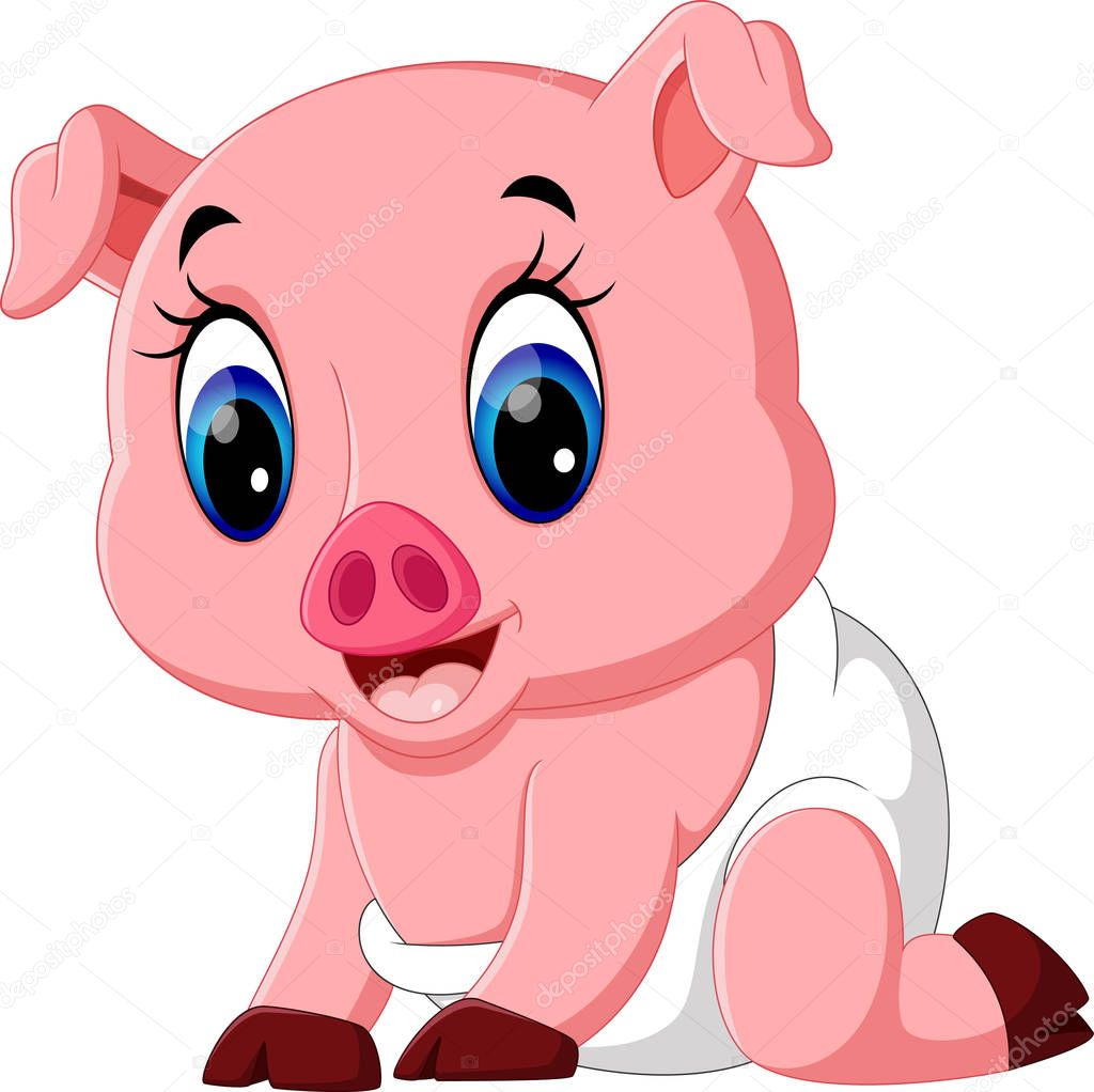Illustration de dessin anim de cochon mignon b b image - Dessin cochon mignon ...
