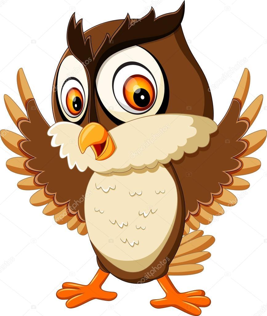 Illustration of cute owl cartoon stock vector hermandesign2015 illustration of cute owl cartoon stock vector voltagebd Image collections
