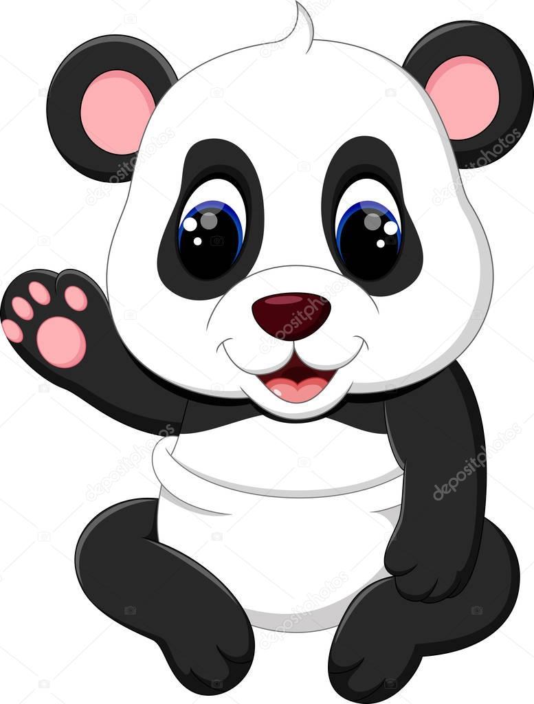 Illustration De Dessin Anime Panda De Bebe Mignon Image