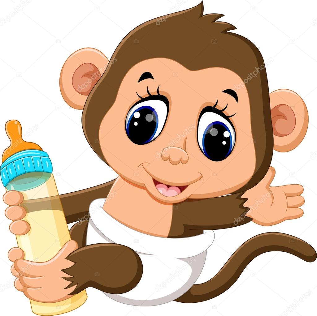 Wall Stickers For Babies Cute Baby Monkey Cartoon Images Wallpaper Images