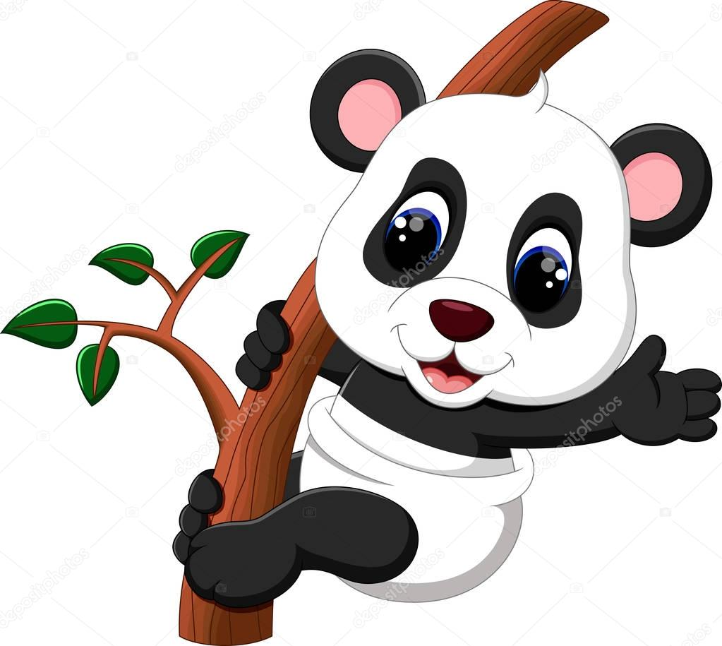 Illustration Of Cute Baby Panda Cartoon Stock Vector